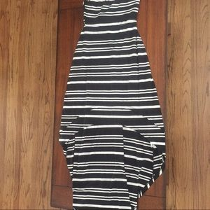 Jessica Simpson High-Low Striped Tube Top Dress